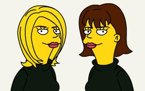 Wiskundemeisjes als Simpsons