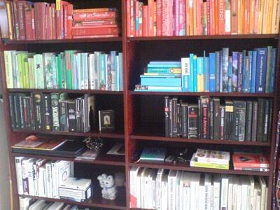 mijn boeken op kleur