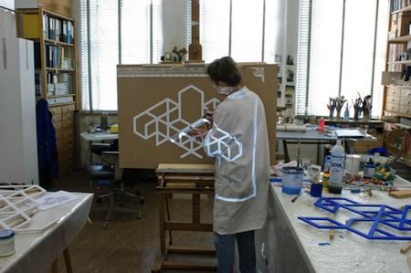 De werken zijn gemaakt door kunstenares Mieke Schobbe.