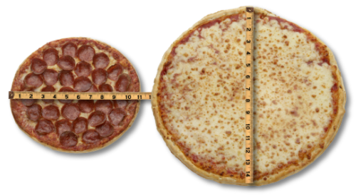 pizza sizes